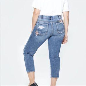 Silver jeans crop